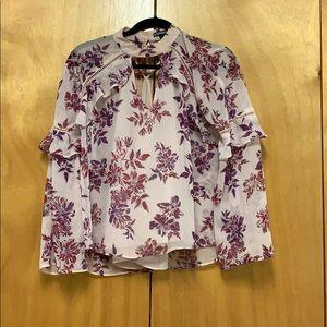 Express Pink Floral Shirt